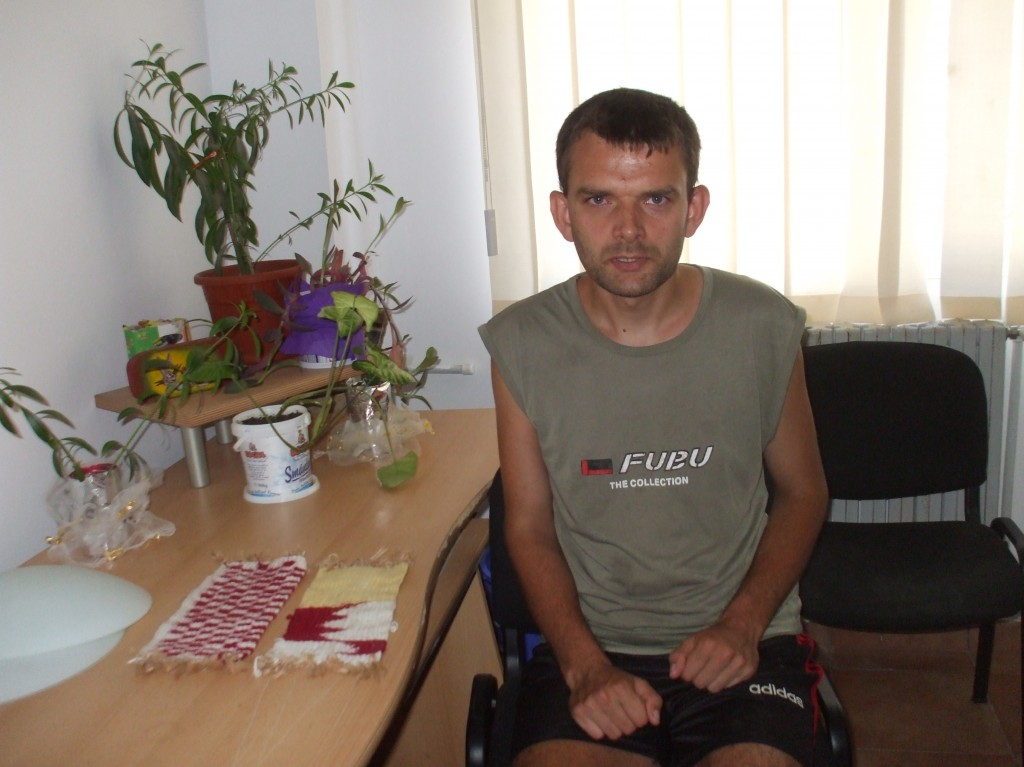Calin is 32 years old and lives in the Comber apartments in Giurgiu, after spending 12 years in an institution when his extended family were no longer able to care for him. Photo courtesy of Comber.